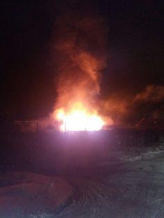 Очередное возгорание гаражей
