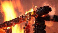 При пожаре погиб мужчина