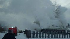 Пожар в поселке Лебединый