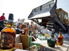 Изъята крупная партия алкогольной продукции с признаками контрафакта